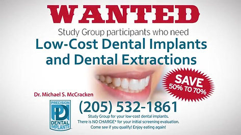 Low-Cost Dental Implants & Extractions