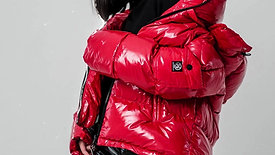 FIERY RED MONCLER DOWN-JACKET