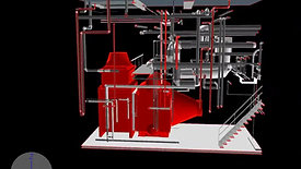 Laser Scanned, Existing Condition As-Built, Coordinated Boiler Replacement, Rigging and Installation