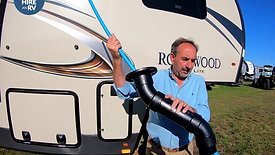 Unblocking an RV Toilet