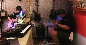Jeard and Remy jaming out for our guest at Golden Thai