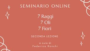 Seconda lezione - Seminario - I 7 raggi, i 7 oli, i 7 fiori