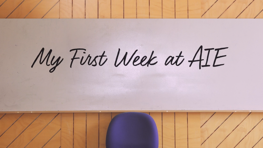 My First Week at AIE