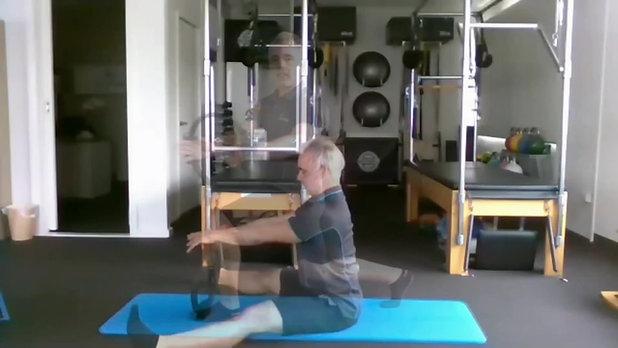 Trailer Pilates Circle Mat Class