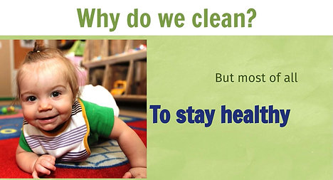 Healthier Child Care in a Minute Cleaning Products