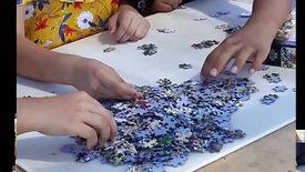Bugünkü etkinliklerimizden biriydi puzzle