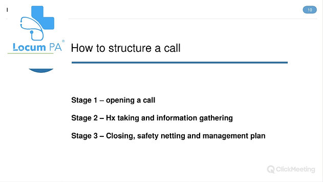 An Expert's Guide To Telephone Triage (A LocumPA Ltd CPD On The Couch Event)