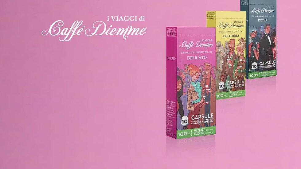 100 % Biodégradable DELICATO - Capsules Nespresso®  compostable