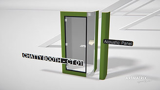 Chatty booth Acoustic Cubicle Pod
