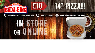 lurgan 14 inch pizza deal video