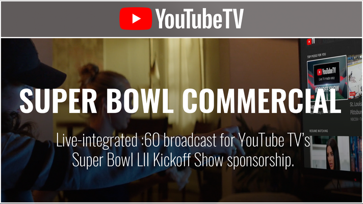 YouTube TV - Super Bowl LII