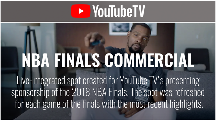YouTube TV - NBA Finals