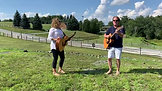 #SpontaneousRoadTrip visit to Yazgur's Farm performing on THE stage where Woodstock took place.  With my good friend Dennis McCaughey