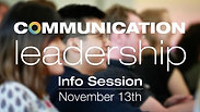 Comm Lead 2018 info session