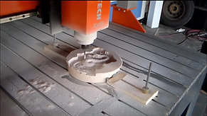 CNC Router machining 3D dragon
