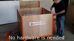SpeedyCrate No Tools Fast Assembly