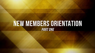 Membership Orientation Part 1