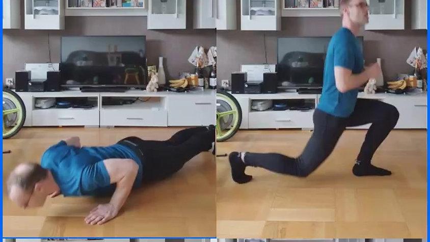 4 Übungen-3 Runden = 12 Minuten