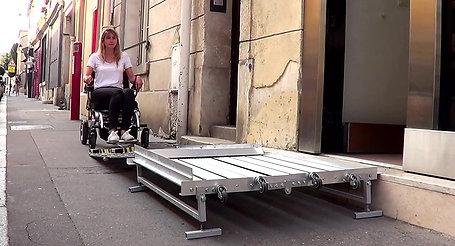 portable wheelchair platform ramp