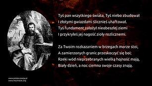 Jan Kochanowski - Pieśń XXV z Ksiąg Wtórych [Czego chcesz od nas Panie za Twe hojne dary...]