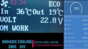 Nomadic Cooling 3000N Eco Cool Test at 100F