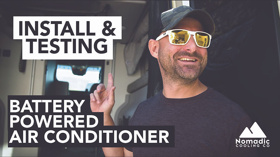 2021 Winnebago Revel Battery Powered Air Conditioner Installation