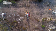 Watch this drone swarm replant a burnt forest