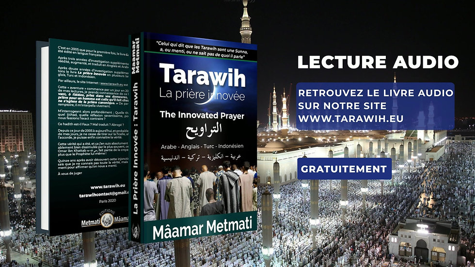 La Prière Innovée Tarawih - Lecture Audio