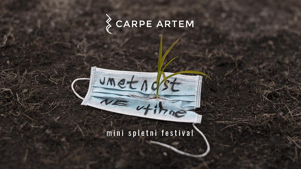 Umetnost ne utihne: mini spletni festival, 9. - 11. december 2020