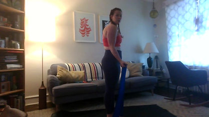 Theraband Workout   Glutes Hips & Arms