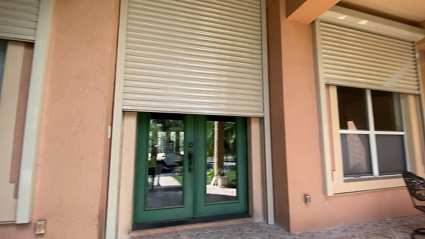 Motorized Hurricane Shutters