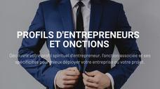 Le profil d'entrepreneurs et onctions
