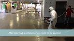 Floor in parking garage with Prokol Hotspray Polyurea