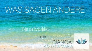 WAS SAGEN ANDERE - Nina Melillo