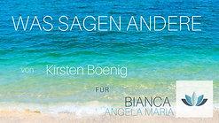WAS SAGEN ANDERE -  Kirsten Boenig