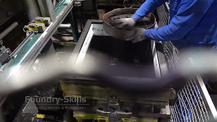 Insert of chills in air impulse press moulding system