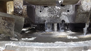 Plunger movement of a hot chamber high pressure die casting machine