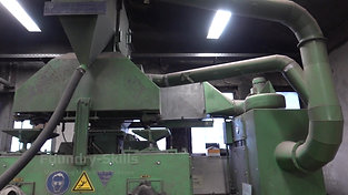 Overview continuous blast cleaning chamber