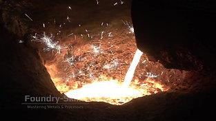 Transfer of molten iron into buffer furnace of cupola furnace