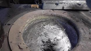 Returning residual melt from ladle to melting furnace