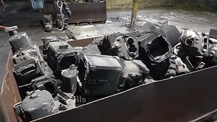 Iron castings before blast cleaning