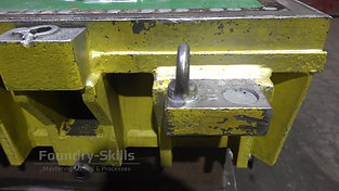 Pattern plates for air impulse press moulding machine detail view