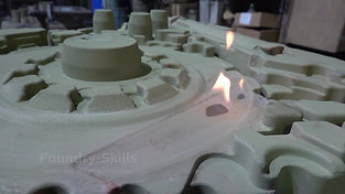 Burning down an alcohol-based coating detail