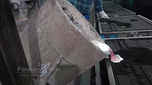 Casting of an aluminum melt at casting line