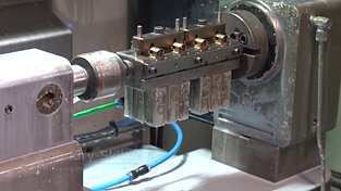 Inserting castings into a fixture for the milling process