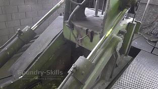 Tilt casting machine detail view