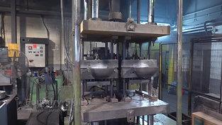 Vertical standing tilt casting machine