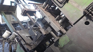 Tilting process of a larger gravity die casting machine