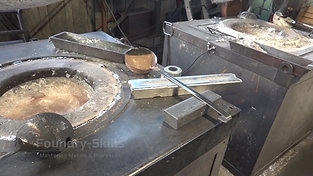 Melting place gravity die casting