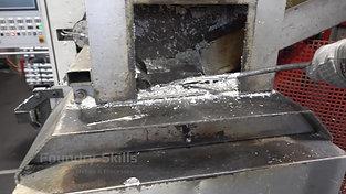 Melt cleaning zinc